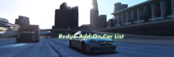 Top 10 Add-On Cars for GTA5 Redux